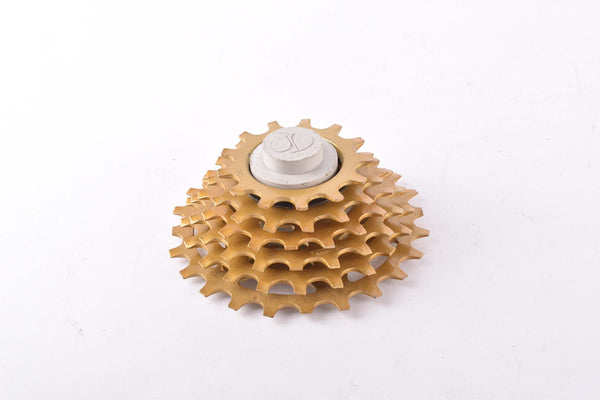 NOS Shimano UG 6-speed cassette with 13-24 teeth from 1986, gold
