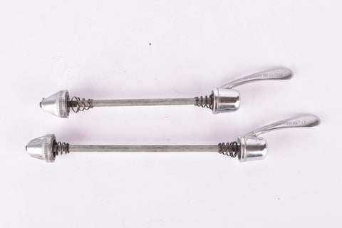 Shimano 600 Ultegra quick release Skewer set, front and rear Skewer from the 1990s