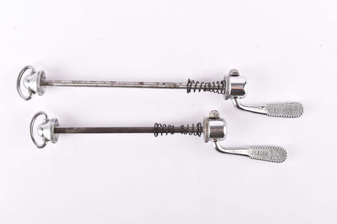 Campagnolo post CPSC quick release set Record and Super Record, #1001/3 and #1006/8 front and rear Skewer from the 1970s - 80s