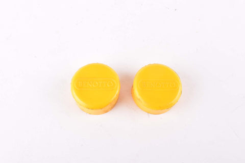 Yellow Benotto handlebar end plugs