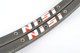 NEW Nisi dark anodized G27 tubular Rims 700c/622mm with 32 holes from the 1980s NOS