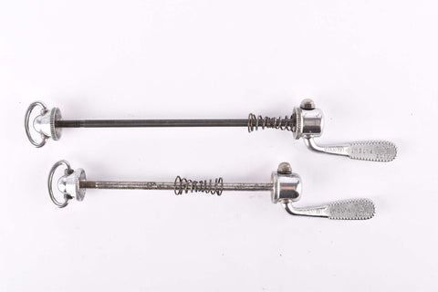 Campagnolo post CPSC quick release set Record and Super Record, #1001/3 and #1006/8x6 front and rear Skewer from the 1970s - 80s