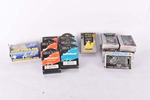NOS/NIB Bunch of 15 Hutchinson, Wolber and Michelin Bicycle Tubes in various sizes and valves