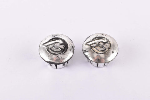 Silver Cinelli handlebar end plugs