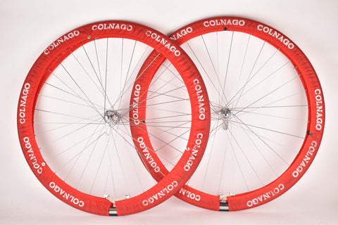 Red Colnago Professional Team Service wheel cover tire saver set