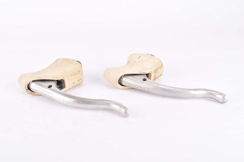 Weinmann non-aero Brake lever set with white hoods from the 1980s