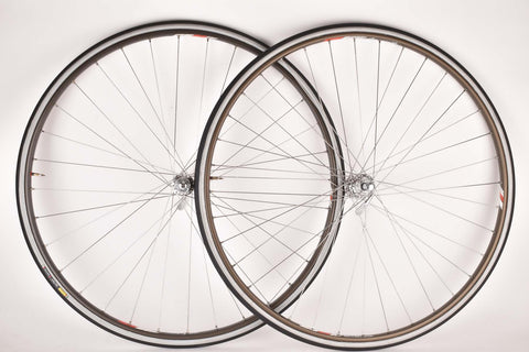 NOS Wheelset with Campagnolo Record Strada Tubular Rims and Campagnolo C-Record Corsa  #322/101 Hubs
