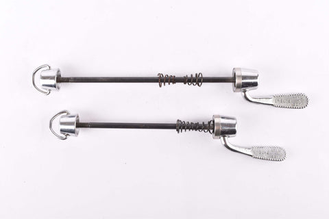 Campagnolo second generation C-Record / Record Corsa quick release set, front and rear Skewer from the late 1980s - 90s