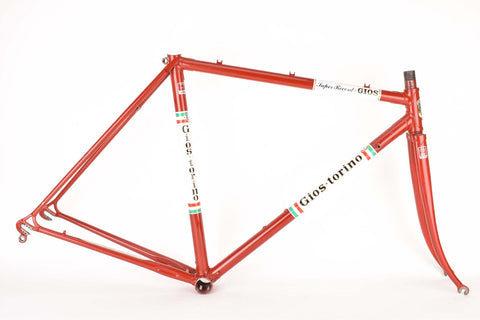 Gios Torino Super Record  frame set in 52.0 cm (c-t) / 50.0 cm (c-c) with Columbus tubing, from the late 1970s / early 1980s