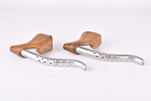 Weinmann AG 405 Carrera #185 non-aero Brake lever set with brown hoods from the 1980s