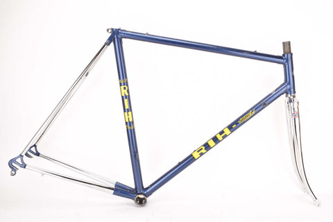 RIH Super Model Profi Rennrad Rahmen frame in 56 cm (c-t) / 54.5 cm (c-c) with Clombus SLX tubing from the 1980s / 1990s
