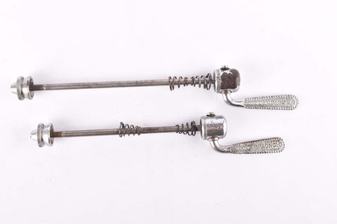 Campagnolo pre CPSC quick release set Nuovo Tipo #1310 and #1311 front and rear Skewer from the 1960s - 70s