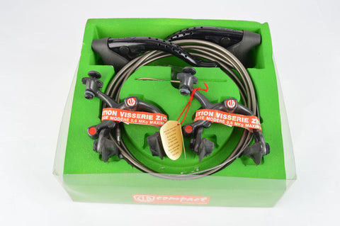 NOS/NIB black CLB Brake Set, Compact Brake Calipers and Super aero Brake Levers, from the 1980s