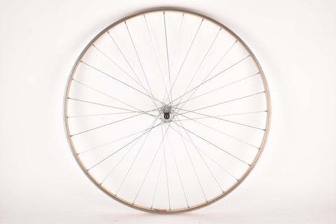 "28"" Front Wheel with golden Mavic OR10 tubular Rim and Campagnolo Record 1034 Hub from the 1970s/80s"