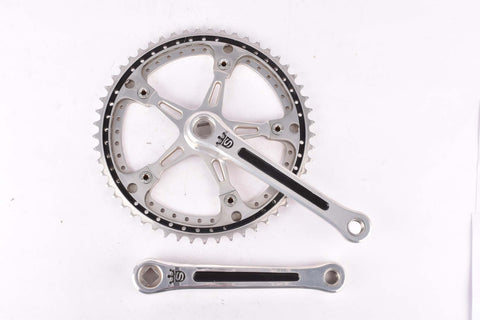 Sugino Mighty Crankset with drilled chainrings, 48/53 teeth and 171mm length from 1976