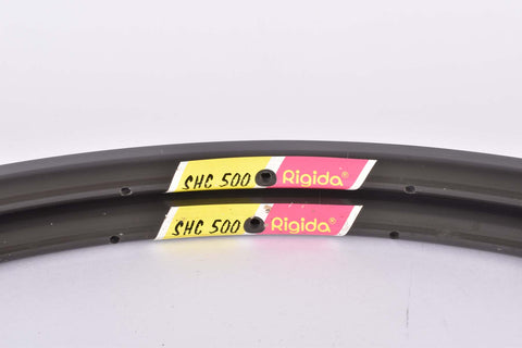 NOS Rigida SHC 500 tubular rims 700C / 622 mm with 32 holes from the 1980s