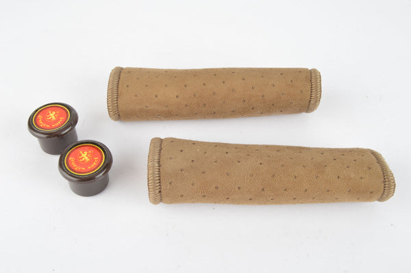 NOS/NIB Georges Sorel Grips in brown suede look, with 110mm length