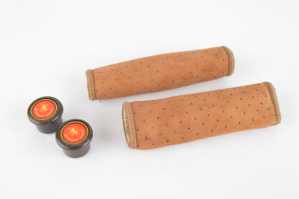 NOS/NIB Georges Sorel Grips in honey suede look, with 110mm length