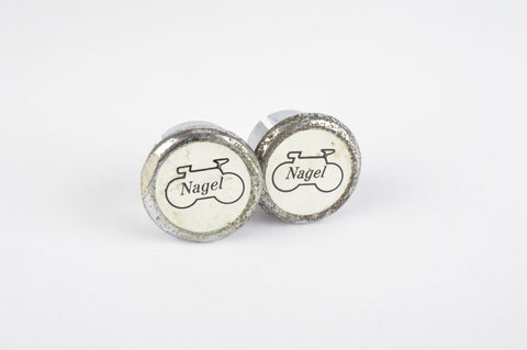 Silver Nagel handlebar end plugs