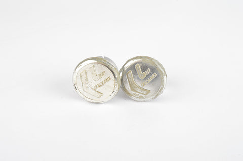 Ciclolinea handlebar end plugs in silver chrome
