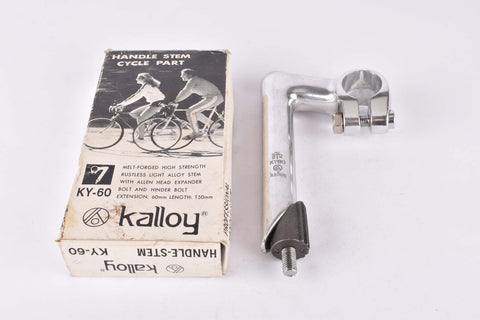 NOS/NIB Kalloy KY60 stem in 60 length with 25.4mm bar clamp size from the 1990s