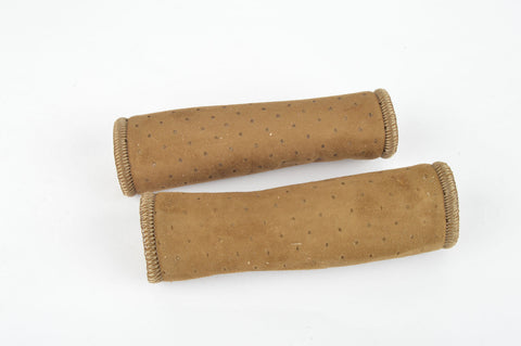 NOS/NIB Georges Sorel Grips in brown suede look, with 110mm length, without bar end plugs