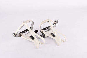 NOS Shimano Exage Sport #PD-A450 Aero Pedal Set with toe clips and straps from the late 1980s