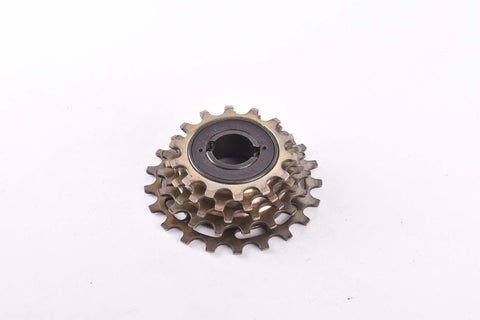 Suntour Pro-Compe golden 5 speed freewheel with 14-21 teeth and english thread from 1977