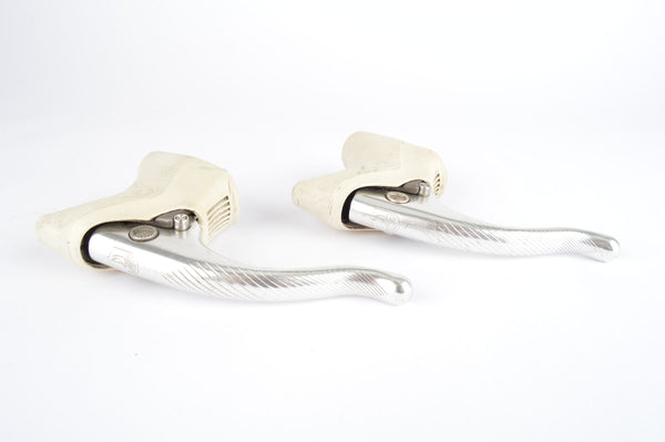 Second Generation Campagnolo C-Record brake lever set with white hoods