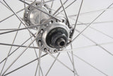 650c time trial front wheel Wolber TX Profil clincher rim with Shimano 105 hub from the 80s