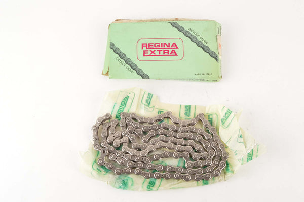 NEW Regina Extra Record S Super Star 5-6-7 speed road chain 1/2 x 3/32, 112 links from the 1980s NOS/NIB