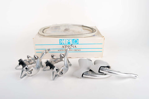 NEW Campagnolo Athena #D500 brakeset with grey hoods from 1988-92 NOS/NIB