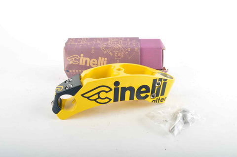 NEW Cinelli Alter Ahead Once Stem 140mm, 26.0, yellow/black from the 90s NOS/NIB