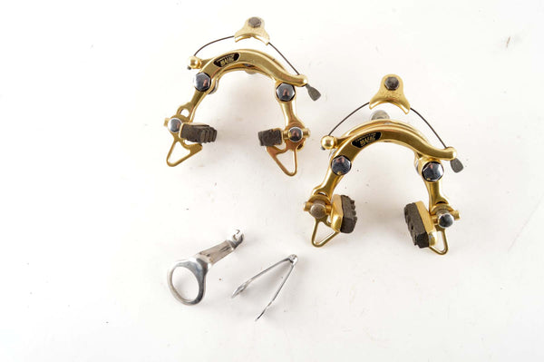 Mafac 2000 gold anodized standart reach center pull brakes from the 1970s - 80s