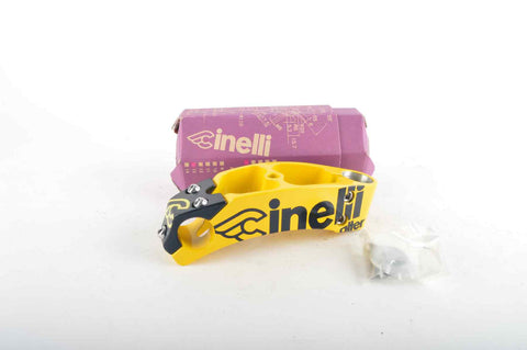 NEW Cinelli Alter Ahead Once Stem 130mm, 26.0, yellow/black from the 90s NOS/NIB
