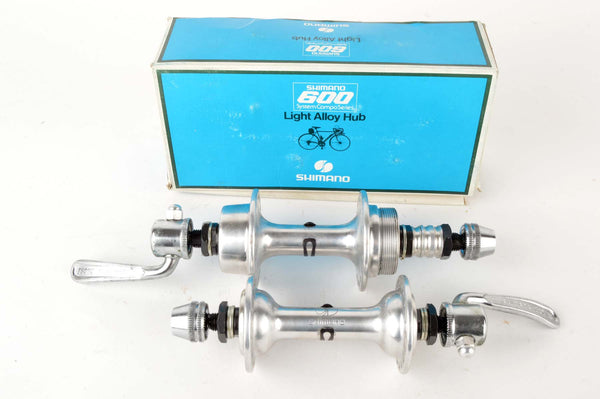 NEW Shimano 600 (1st Generation) freewheel hubs incl. skewers from the late 70s NOS/NIB