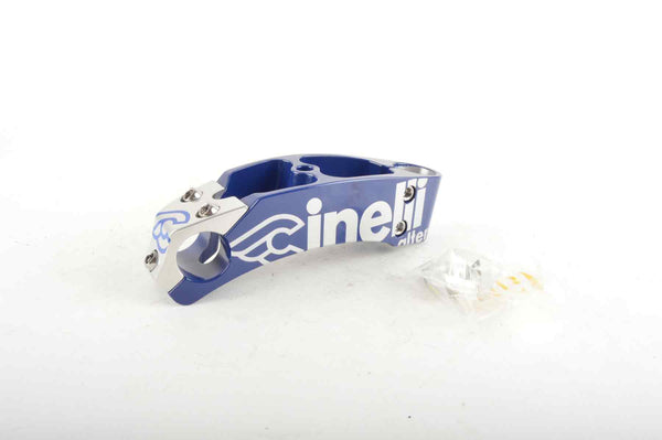 NEW Cinelli Alter Ahead Asics Stem 140mm, 26.0, blue/silver from the 90s NOS