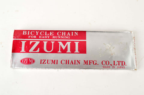 NEW Izumi Easy Running 5-6-7 speed road chain 1/2 x 3/32, 116 links from the 1980s NOS/NIB