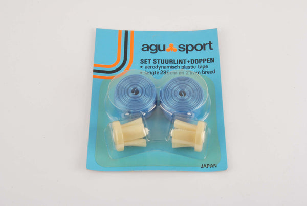 NEW Agu Sport blue shiny handlebar tape from the 1980s NOS / NIB