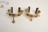 Gold anodized MAFAC #2000 (incised lettering) center pull brakes and Mafac brake lever set from the 1970's