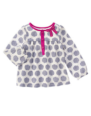 Apple Print Smock Top