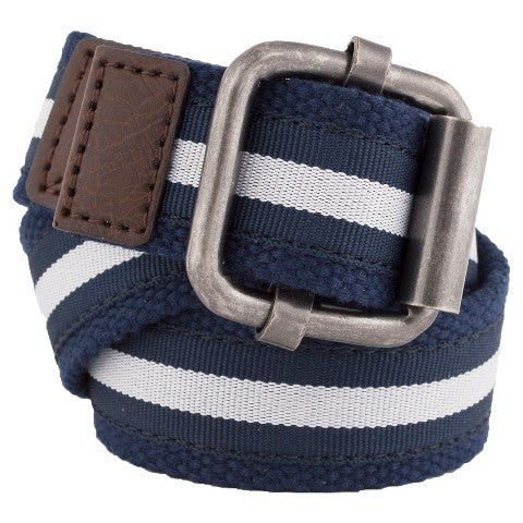 Boys' Striped Twill Belt