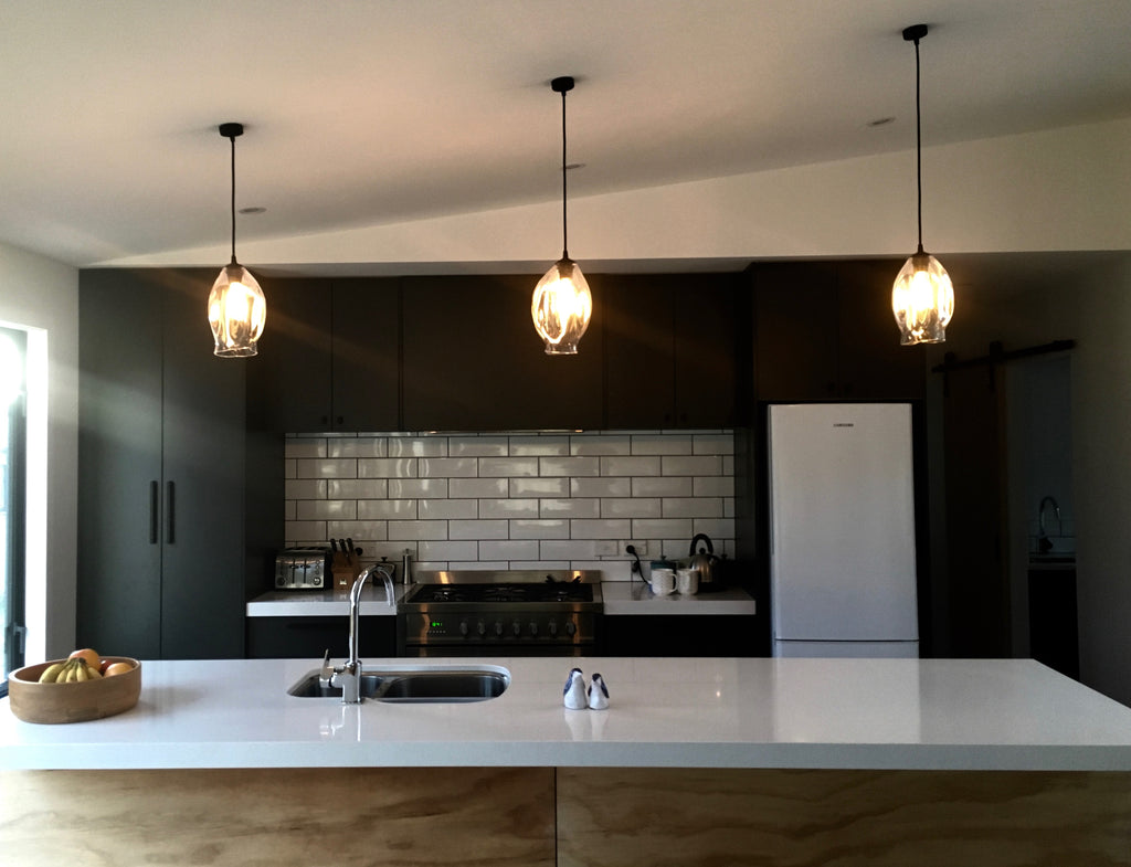 Three Pendant Lights in a modern kitchen & Pendant Lights | Glass Pendant Light and Lighting Australia u2013 SØKTAS azcodes.com
