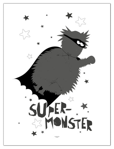 Plakat flyvende supermonster/poster flying supermonster