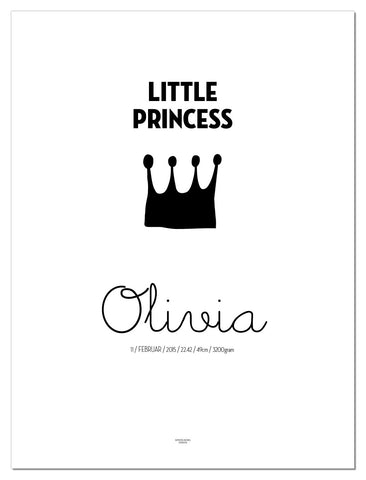 Little Princess poster med navn