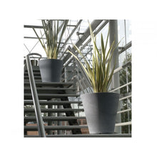 Load image into Gallery viewer, Manchester Faux Stone Tapered Container - Indoor / Outdoor Planters