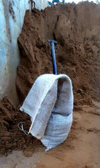 QTY 20 Filled with Sand Hessian Sand Bags Size 25cm x 50cm x 10cm High, 12-15 kilos
