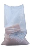 "QTY 100 Clear Heavy Duty Rubble Bags, 400Gauge 100Mu 22"" x 32"" Inches"