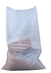 "Clear Heavy Duty Rubble Bags, 400Gauge 100Mu 22"" x 32"" Inches Sackman"