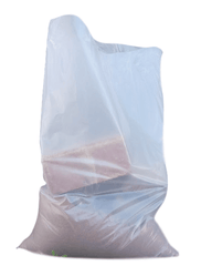 "QTY 100 Pack Clear Heavy Duty Rubble Sacks 400 Gauge 22 x 32"" Inches 